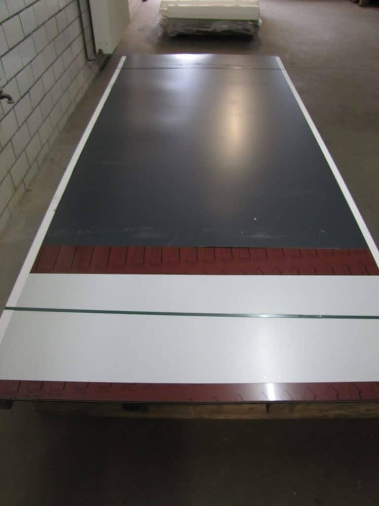 Trapezblech Profilblech St/ärke 0,50 mm Beschichtung 25 /µm Farbe Wei/ßaluminium Profil PS20//1100TRA Dachblech Material Stahl